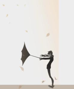 Stylized Illustration by Blacksmiley - Windy Day
