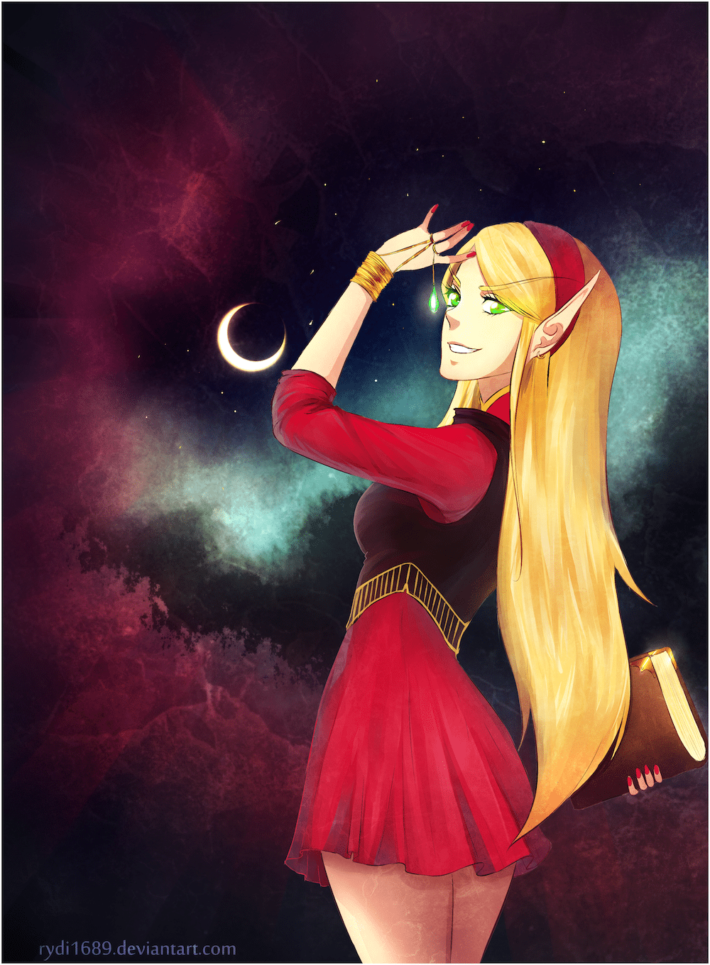 The Blood Elf by Lucía García via ArtCorgi