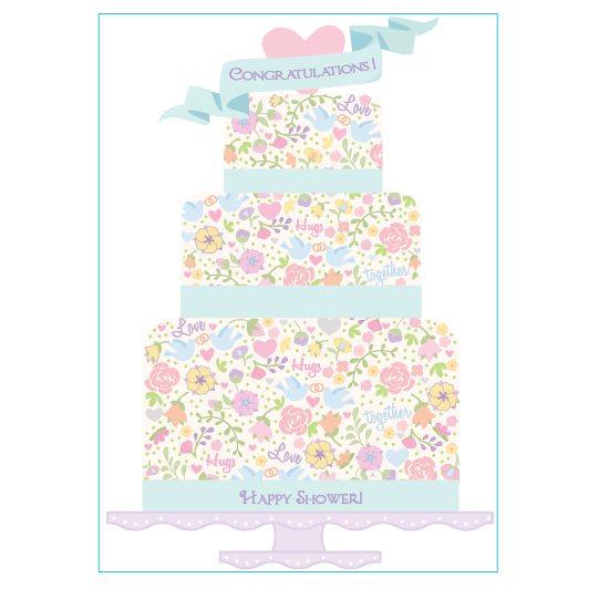Tiered Wedding Cake Illustration by Tina Cash-Walsh