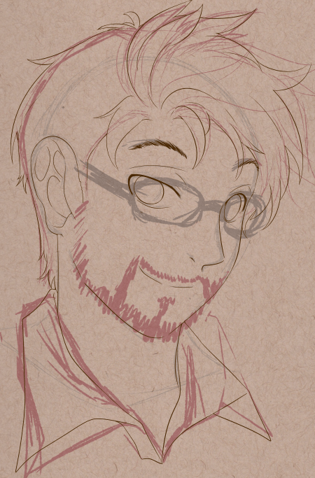 WIP Portrait of Chase by Kura-Ou