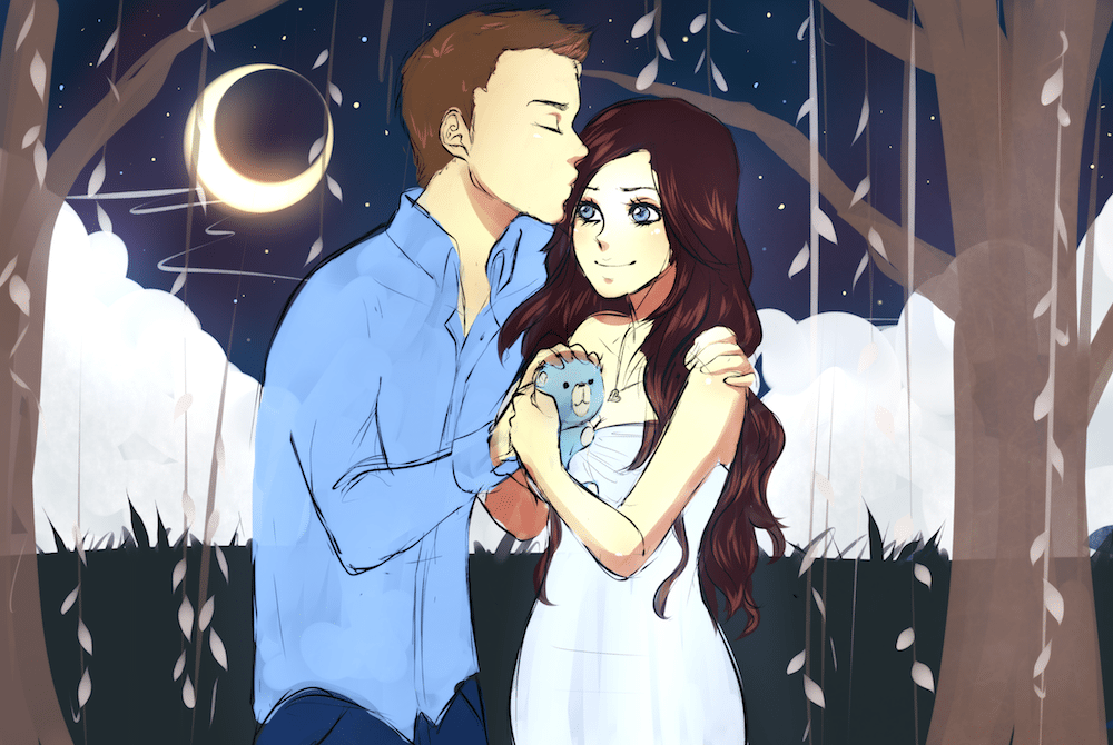 WIP of The Moonlit Couple by Lucía García