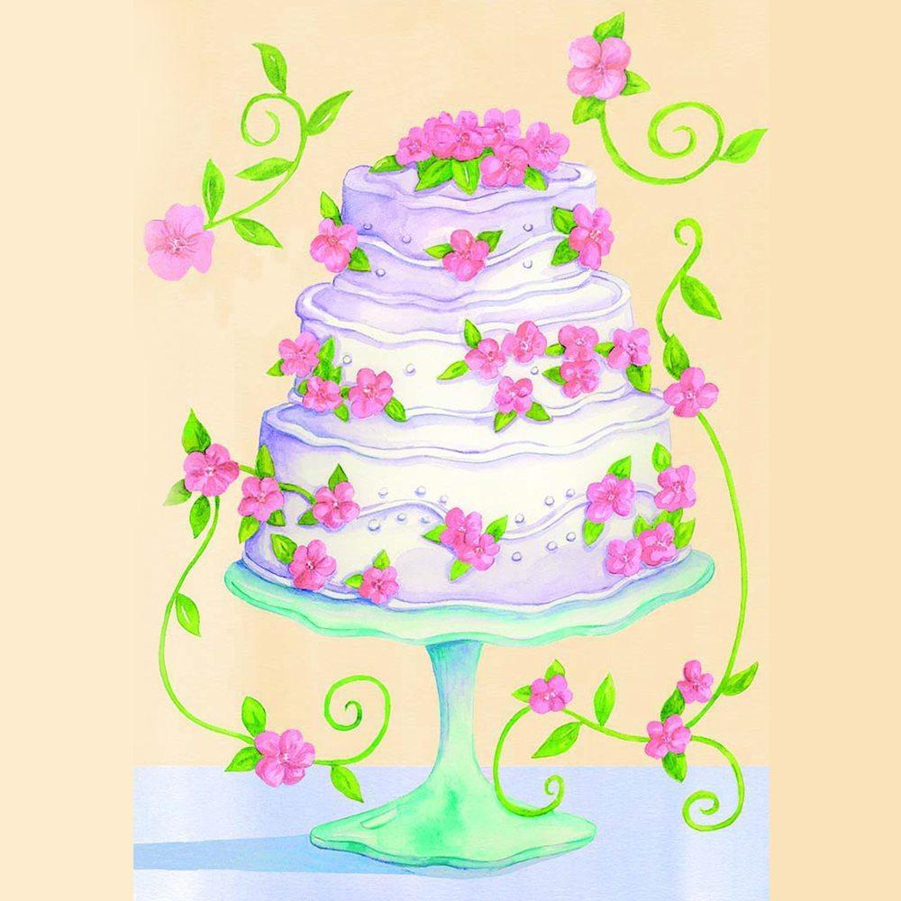 Wedding Cake Illustration by Tina Cash-Walsh