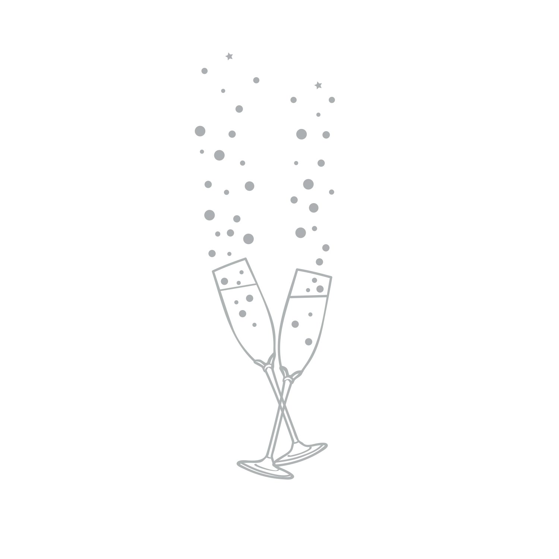 Wedding Champagne Stamp Design by Tina Cash-Walsh