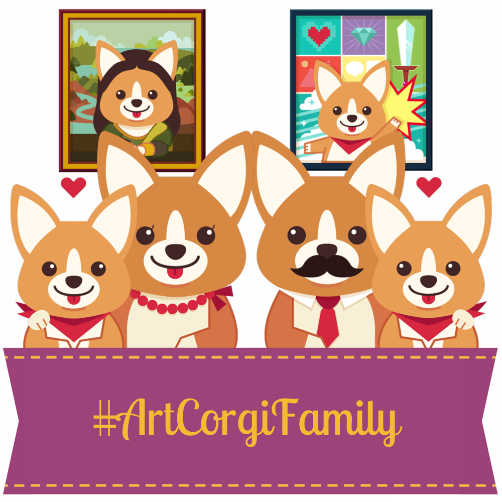 #ArtCorgiFamily November contest