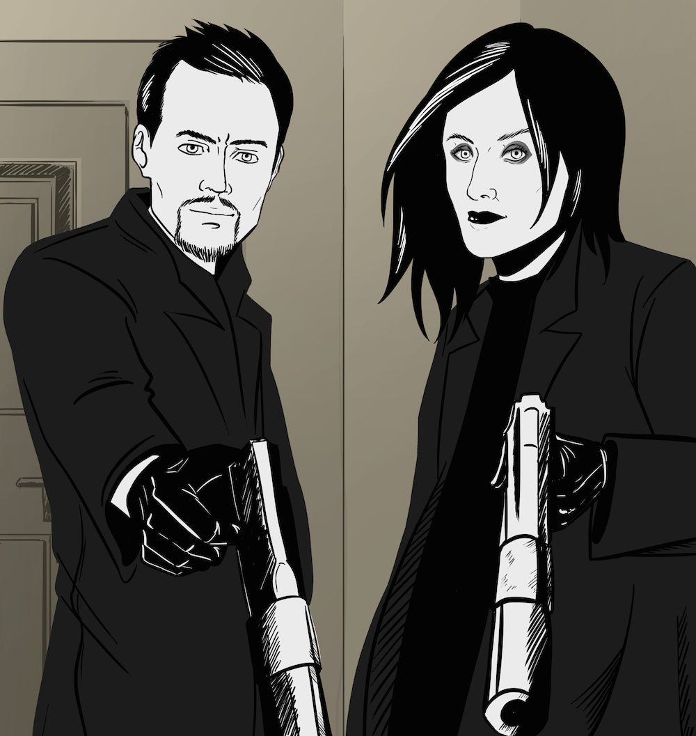 Badass Couple Portrait by Blacksmiley via ArtCorgi