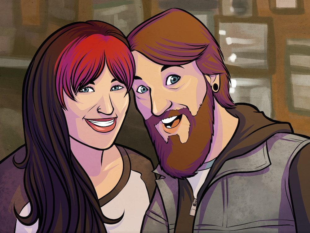 Couple Portrait by Liz Coshow via ArtCorgi