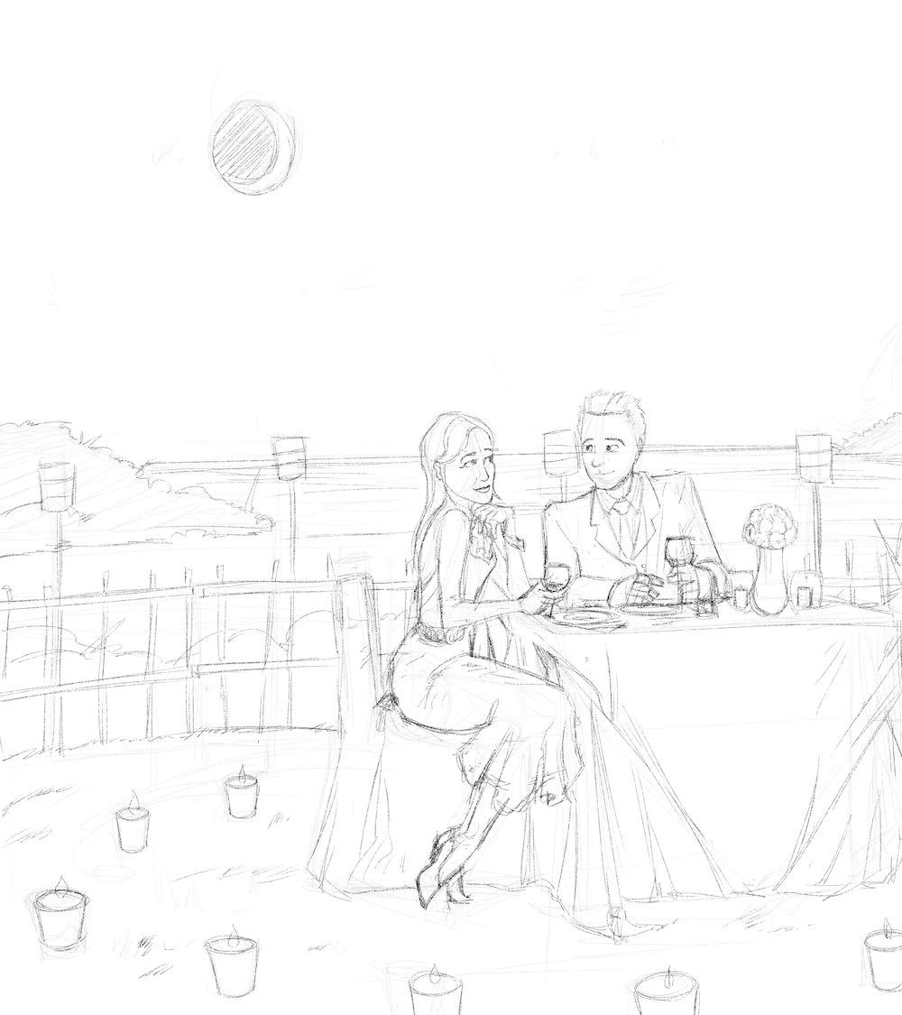 DRAFT - David and Jay at a romantic dinner by Silvadoray