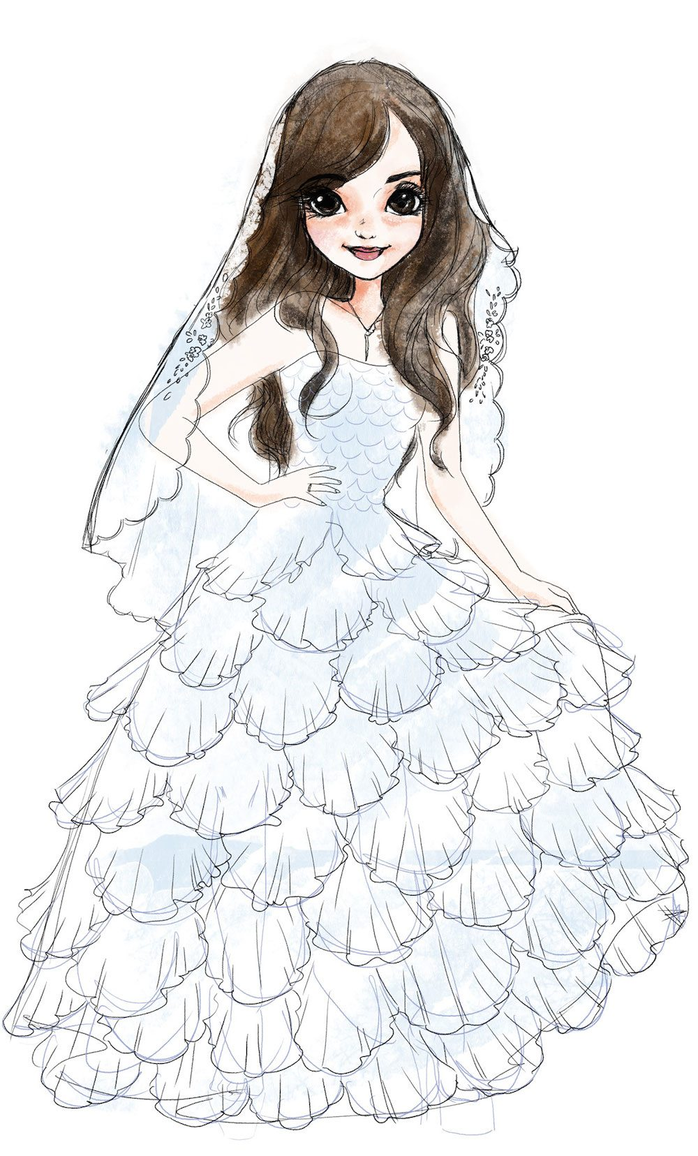 Draft Fashion Portrait of a Bride by Elisa Moriconi
