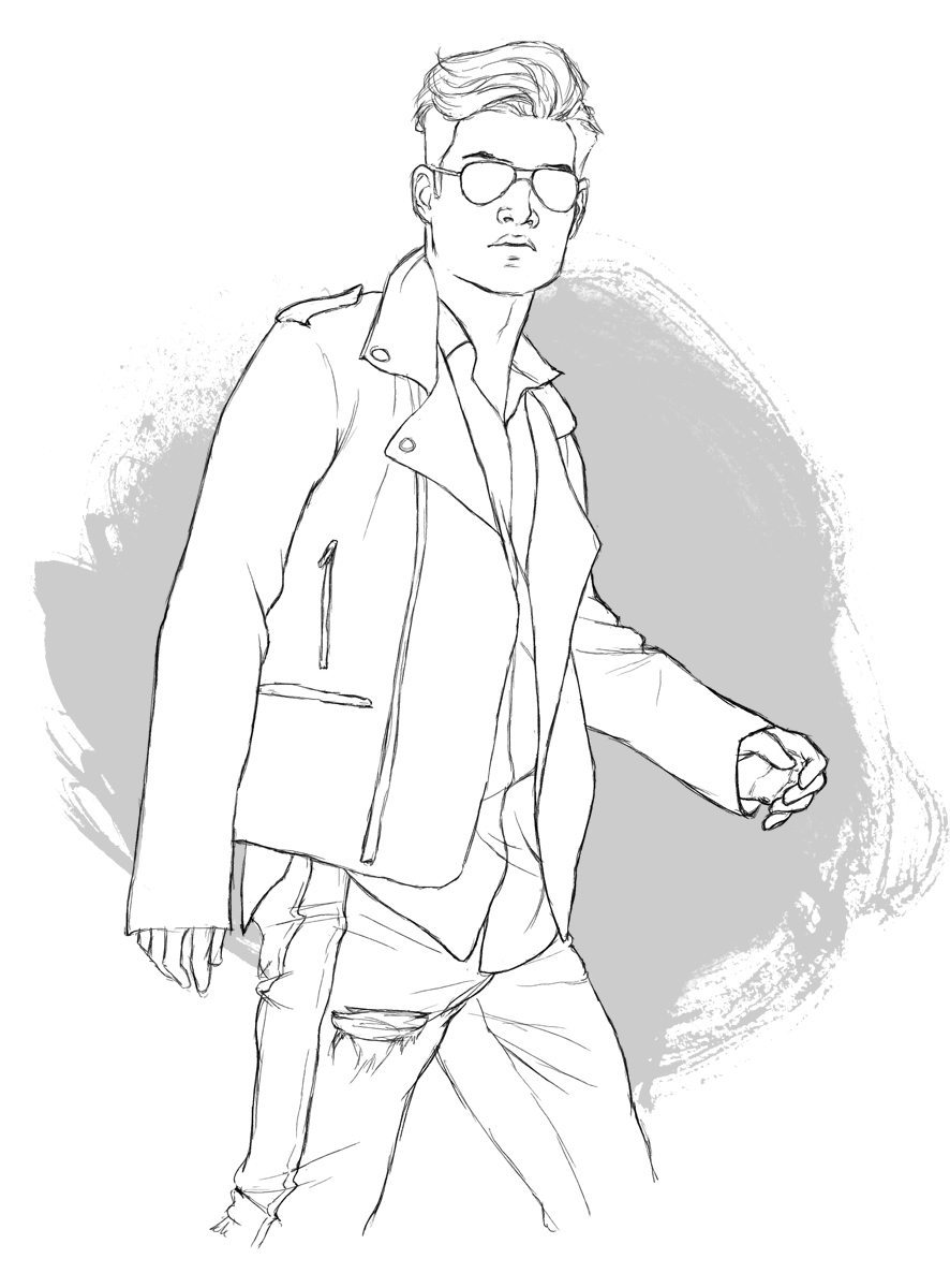 Draft Portrait of Alexander Liang by Dumonchelle Draws
