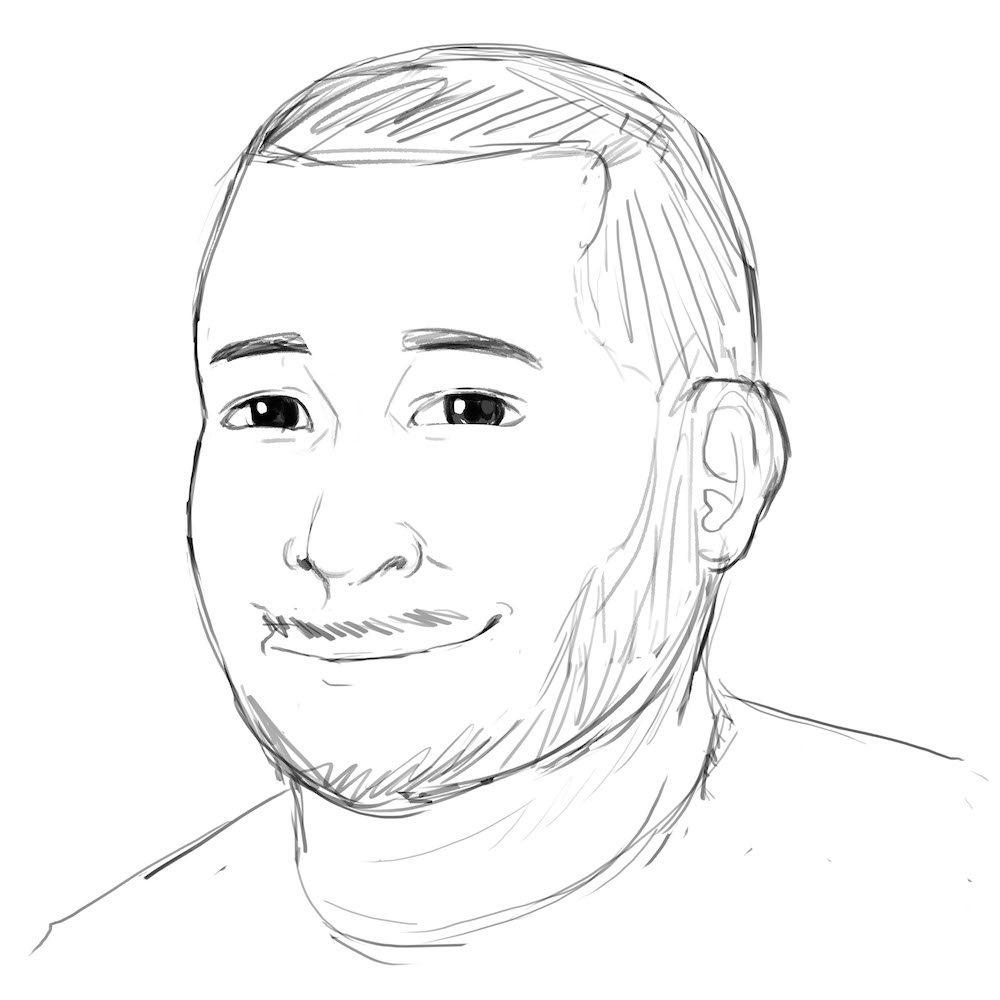 Draft Portrait of Jonathan by Oweeo