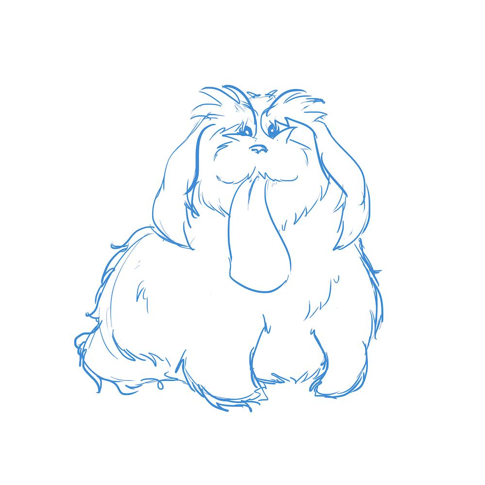Draft Portrait of a Dog by Blacksmiley