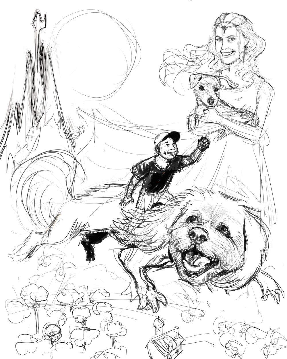 Draft of NeverEnding Story Fan Art by BenDX