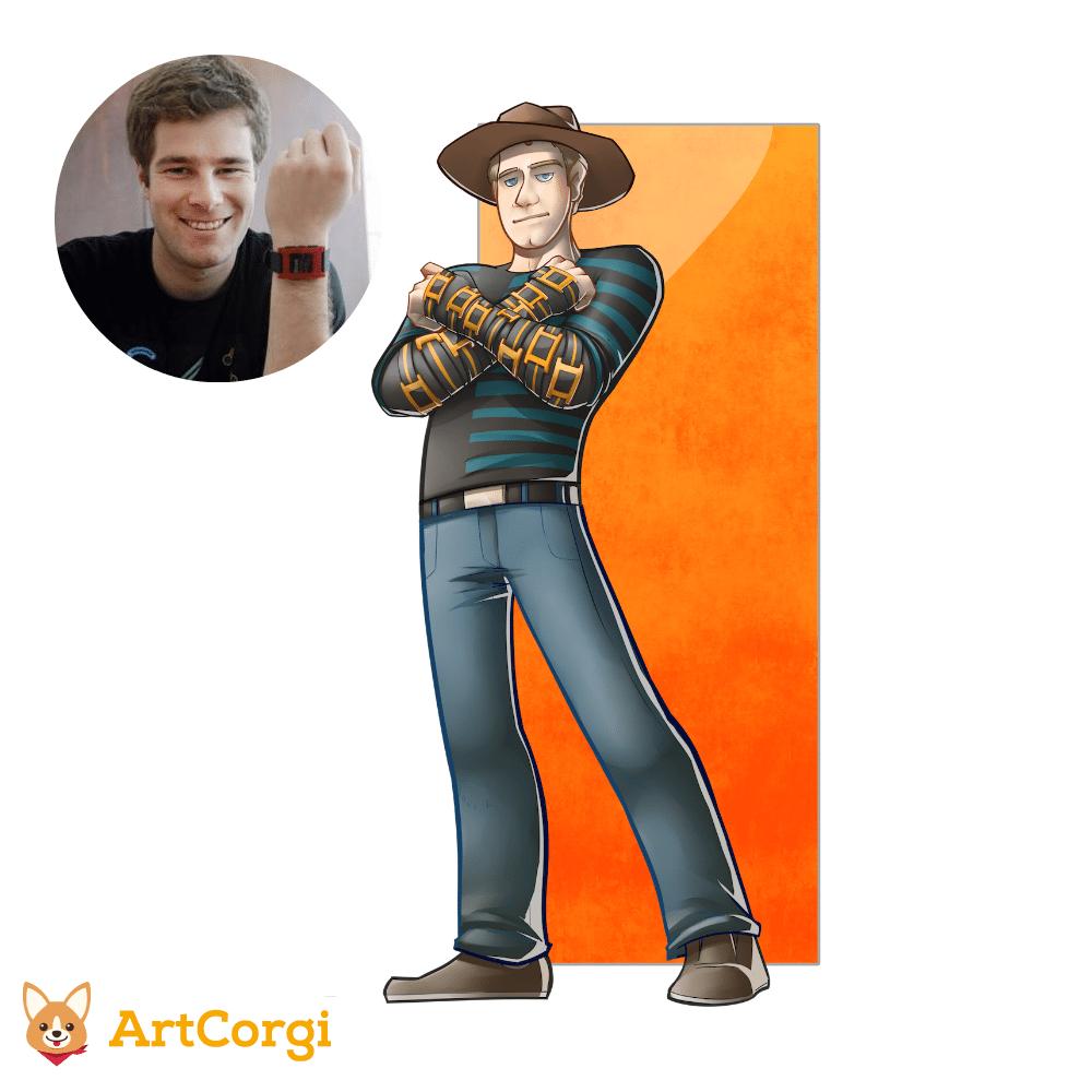 Eric Migicovsky of Pebble Before and After by Silvadoray via ArtCorgi