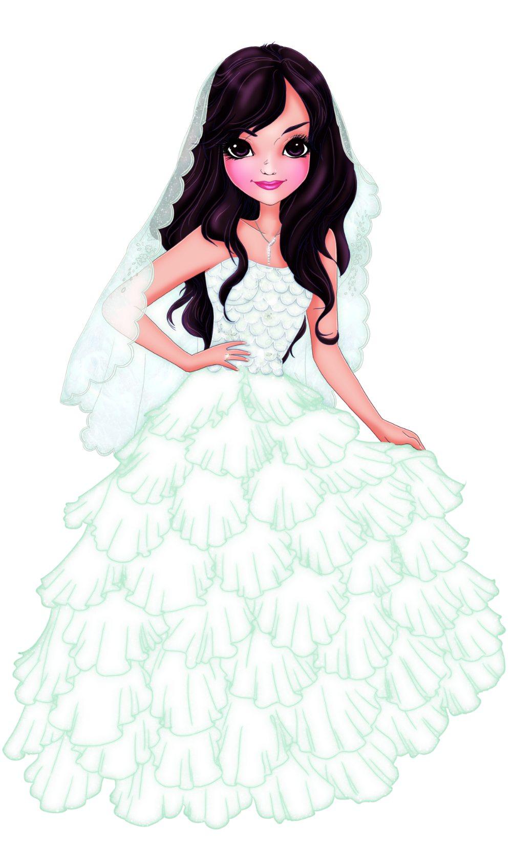 Fashion Illustration Portrait of a Bride by Elisa Moriconi via ArtCorgi