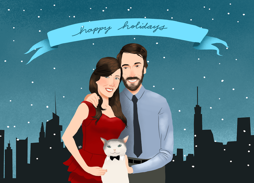 Happy Holidays Card Design by Allison Ranieri