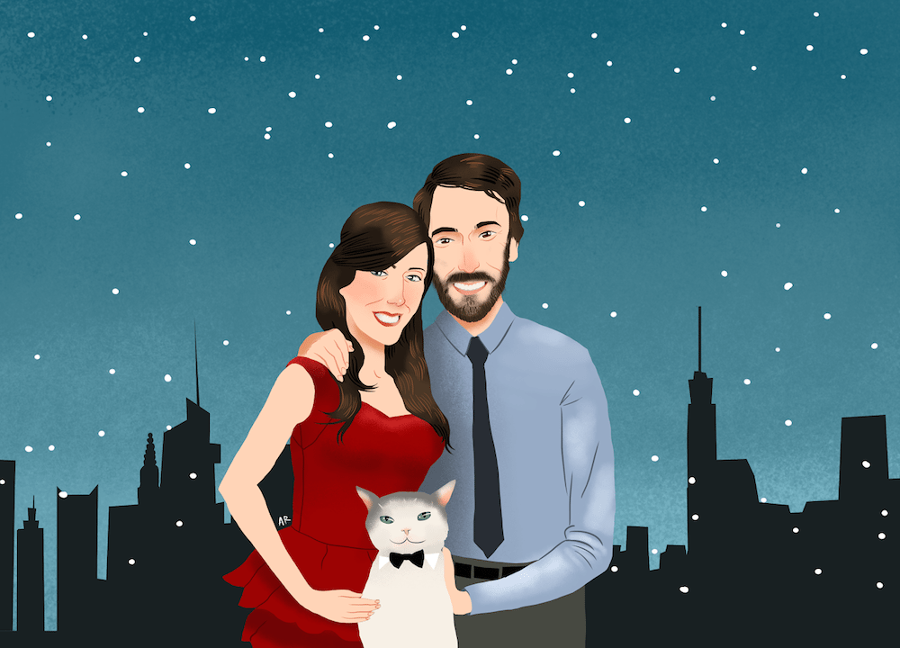 Holiday Couple Card Design by Allison Ranieri