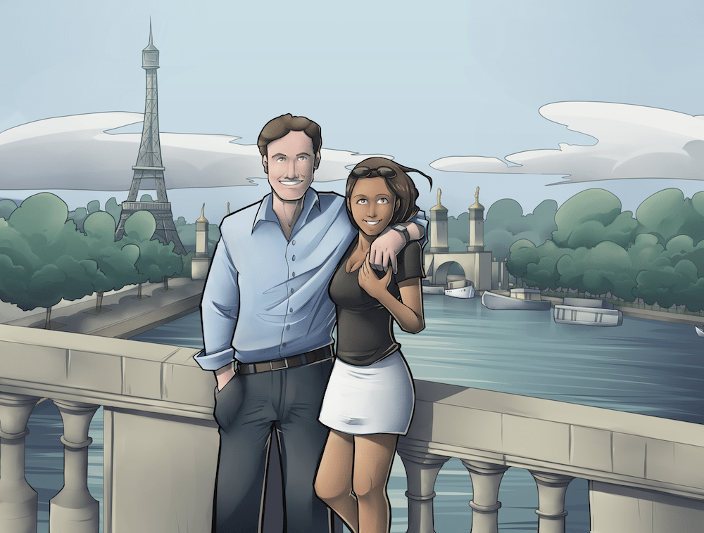 James and Jacqueline in Paris by Silvadoray via ArtCorgi.png