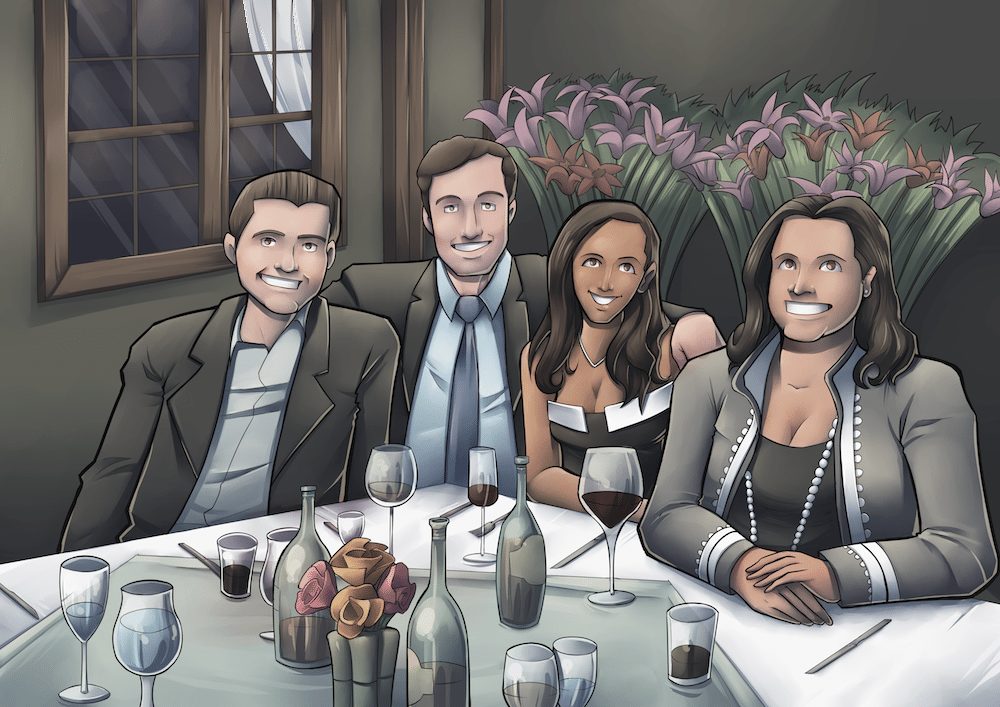 James and Jacqueline with family by Silvadoray via ArtCorgi.png
