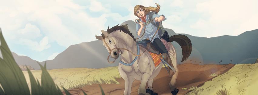 Katherine at the Mongol Derby by Denitsa Trandeva via ArtCorgi Facebook Filtered