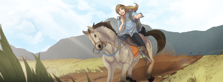 Katherine at the Mongol Derby by Denitsa Trandeva via ArtCorgi Facebook