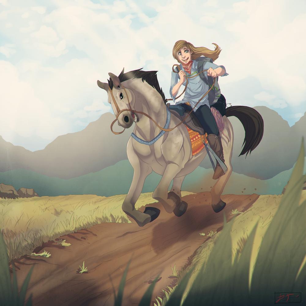 Katherine at the Mongol Derby by Denitsa Trandeva via ArtCorgi Filtered