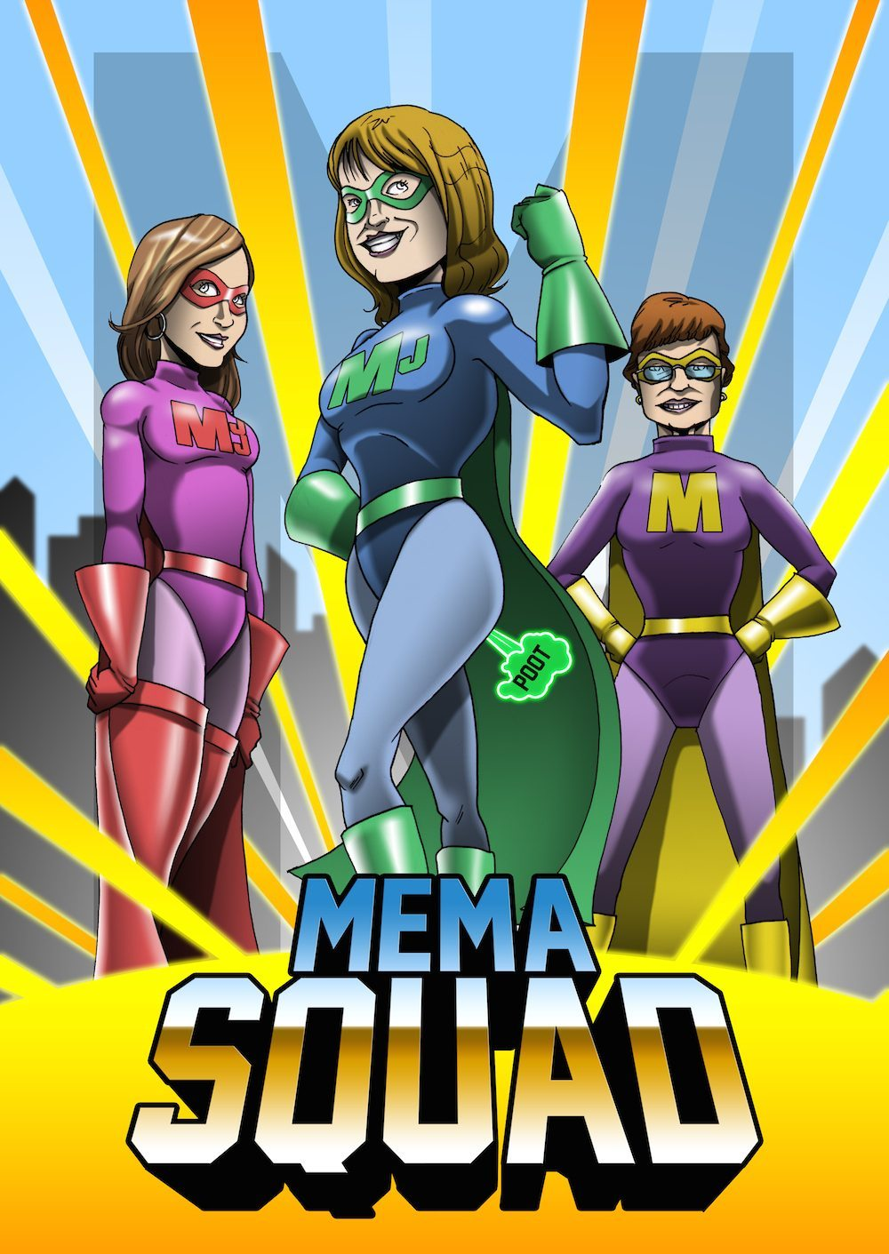 Mema Squad by Clay Graham via ArtCorgi with Logo