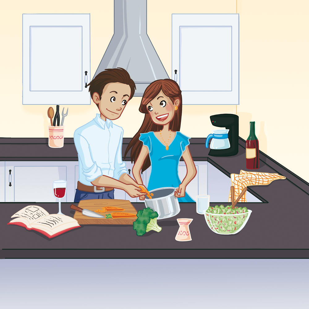 Portrait of Jay and David Cooking in the Kitchen by Chiara Bertelli via ArtCorgi