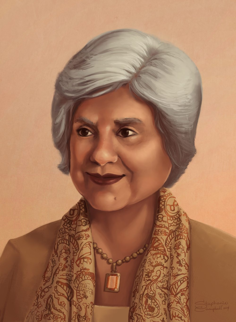 Portrait of a Grandmother by Stephanie Campbell via ArtCorgi