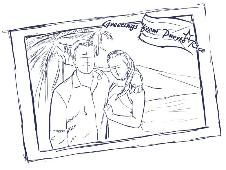 Postcard Inspired couple portrait draft by Crespella