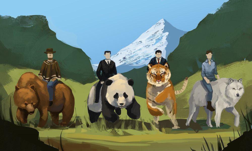 Progress Draft of the Men who Ride wtih Spirit Animals by Andy Lamarca