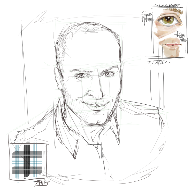 Sketch of CR Bruce by TheMeeDes