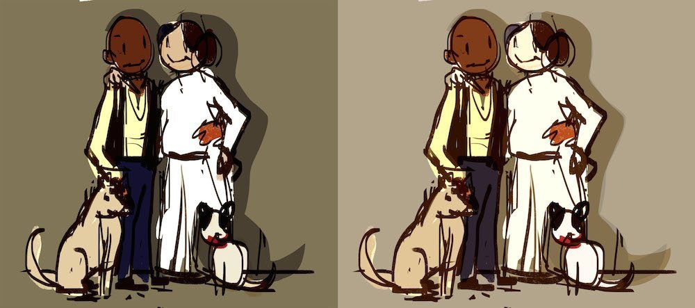 Sketches of Star Wars Couple by Mourphine