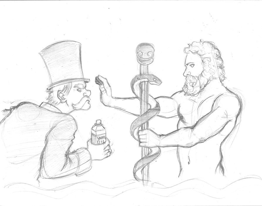 Updated God vs Snake Oil Salesman by Lorenzo Sabia