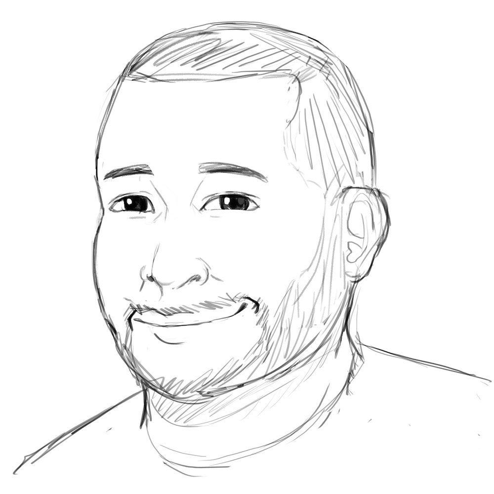 WIP Draft Portrait of Jonathan by Oweeo