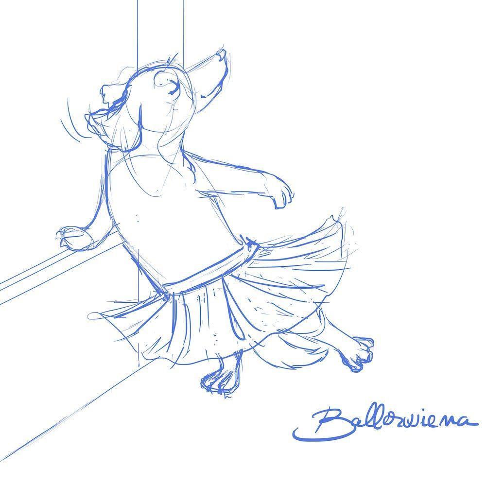 Ballerwiena Sketch - Pet Portrait by Blacksmiley