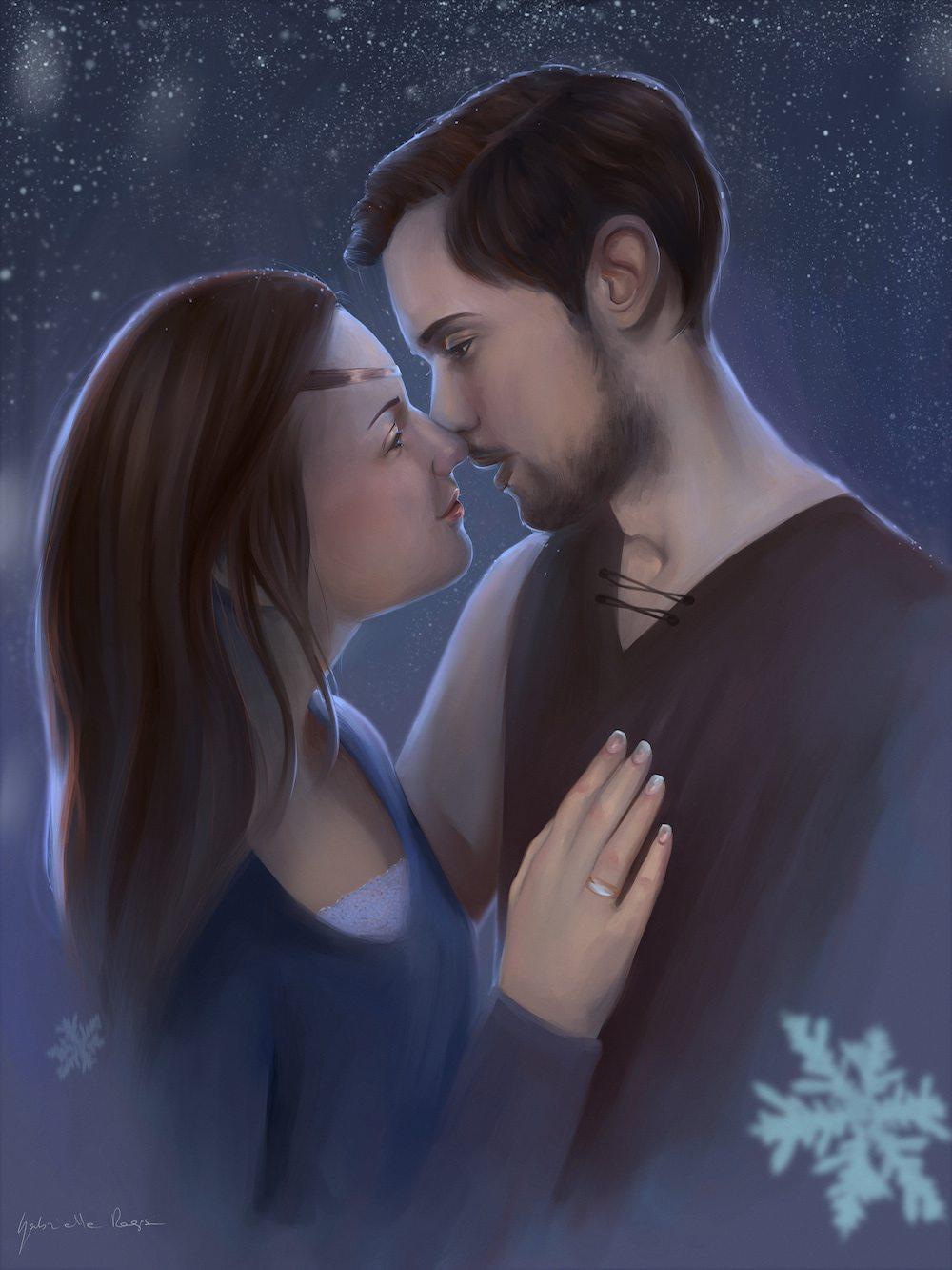 Brian and Manda by Gabrielle Ragusi via ArtCorgi Portrait