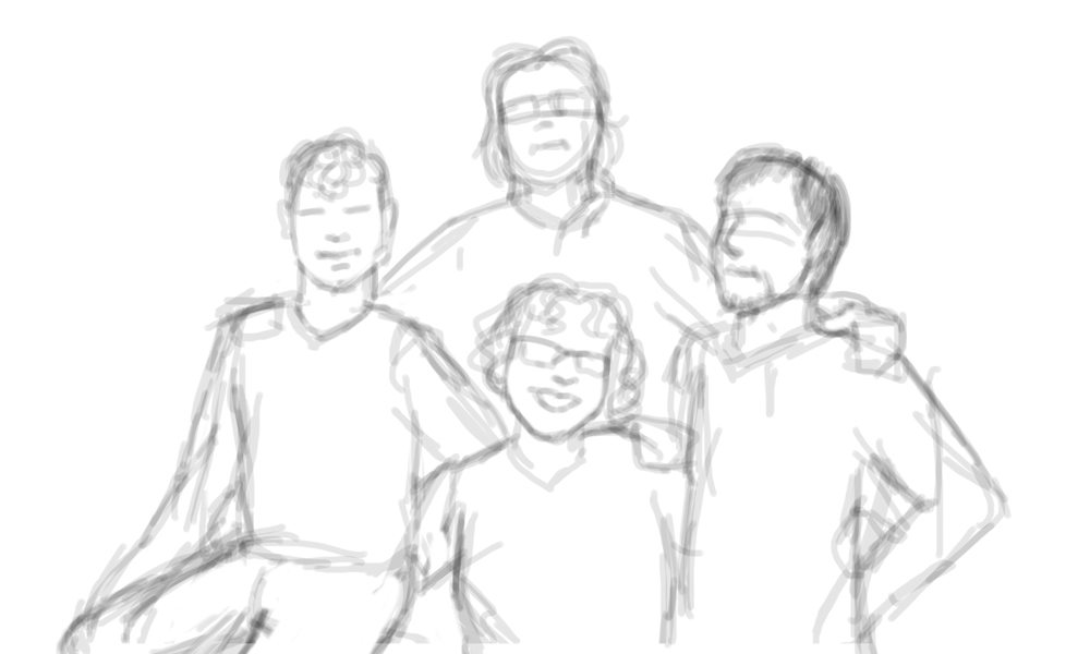Draft Composition of a Family Portrait by Beatriz Albir
