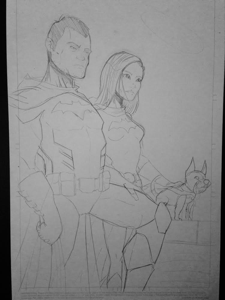 Draft Portrait of The Batman Family by Clay Graham