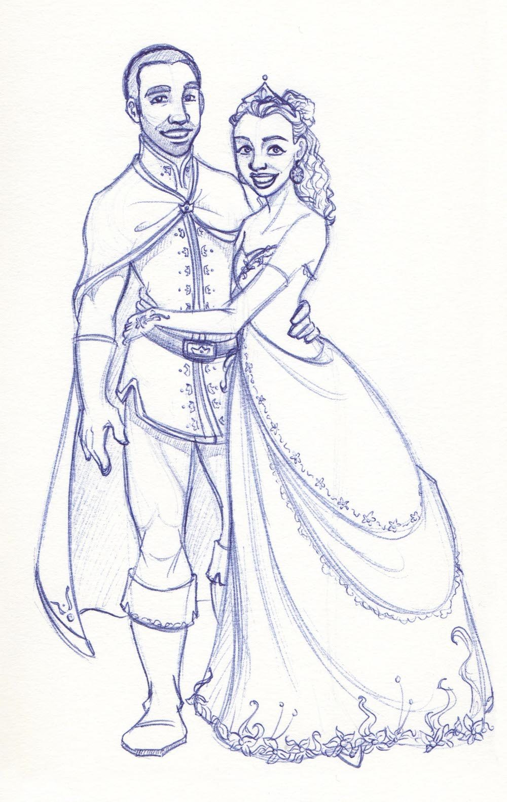 Draft Portrait of a Prince and Princess by Drew Graham