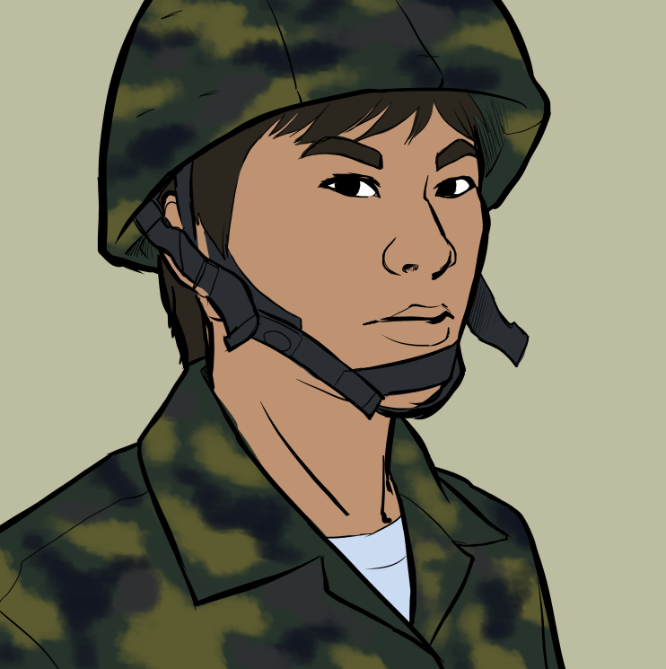 Draft Portrait of a Soldier by Liz Coshow