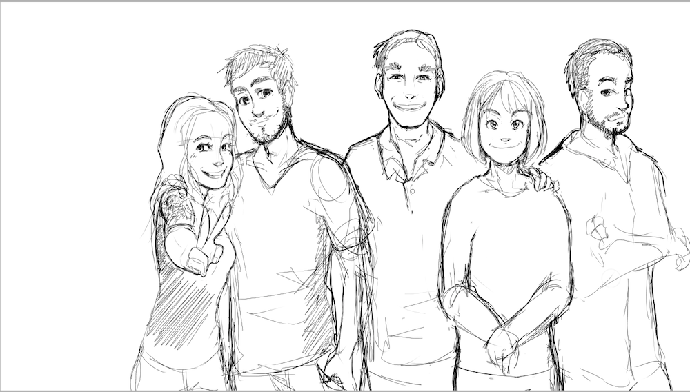 Draft Portrait of the McMillan Family by AruRmz