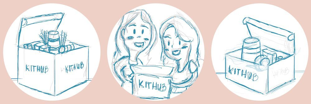 Draft Sketch of KitHub Boxes and Founders by JC Roxas