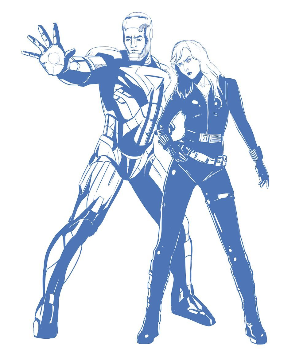 Iron Man Inspired Couple Portrait draft by Blacksmiley