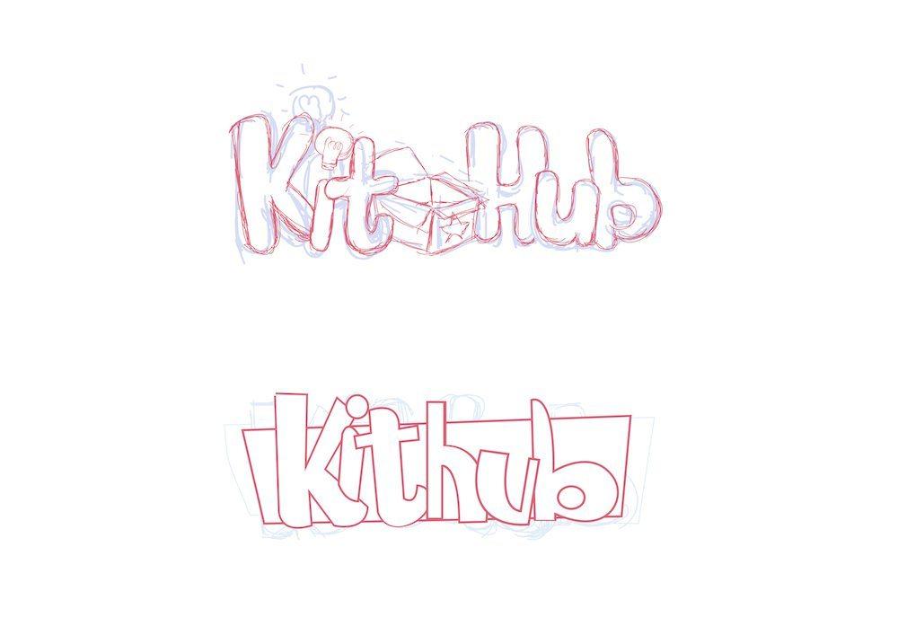 KitHub Logo Drafts by JC Roxas Set 1