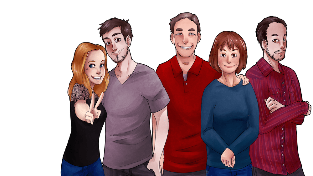 McMillan Family Portrait by AruRmz via ArtCorgi