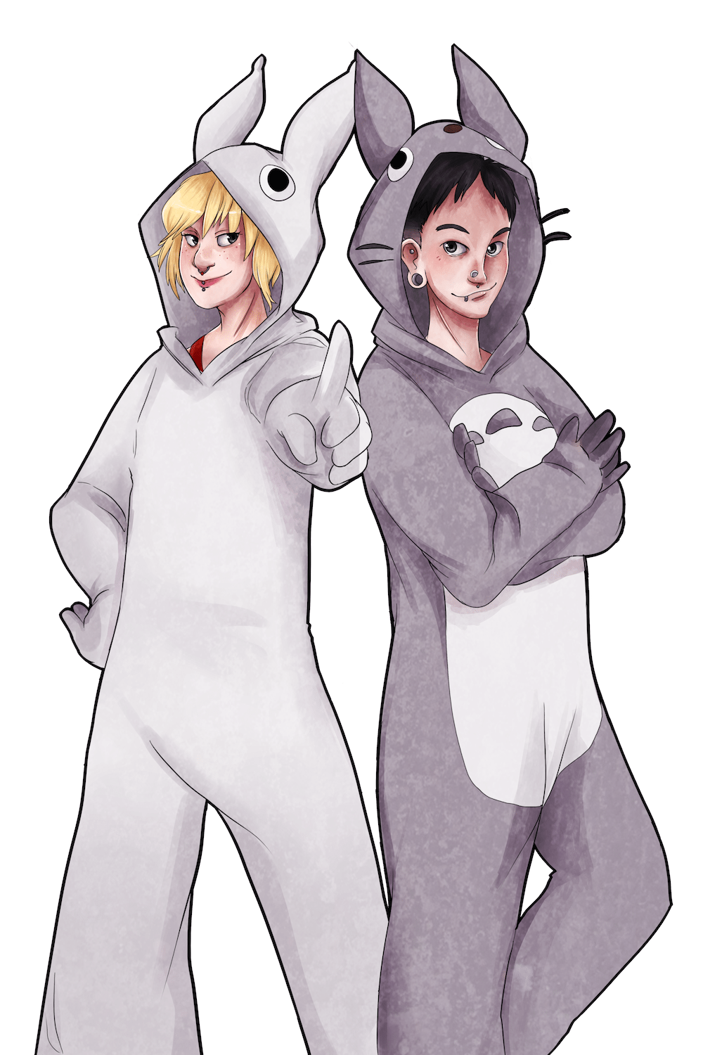 Portrait of The Kigurumi Gang by AruRmz via ArtCorgi v3