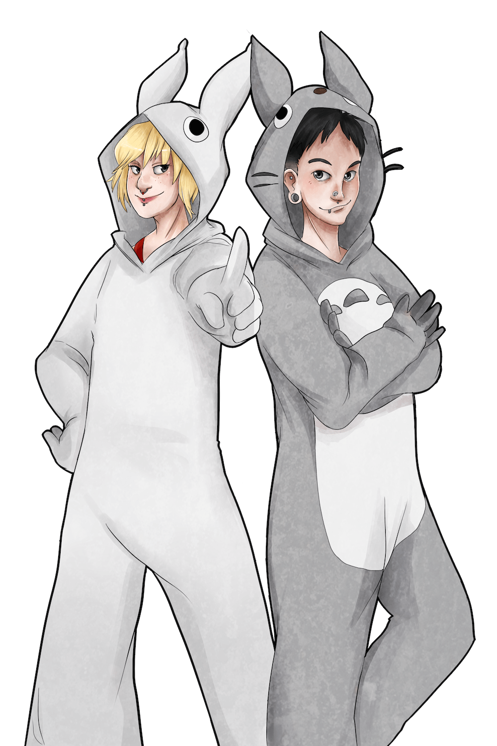 Portrait of The Kigurumi Gang by AruRmz via ArtCorgi v4