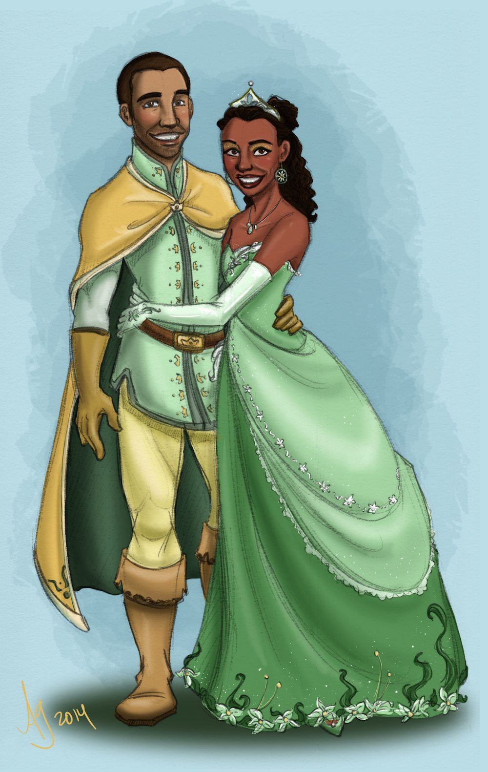 Portrait of a Prince and Princess by Drew Graham via ArtCorgi