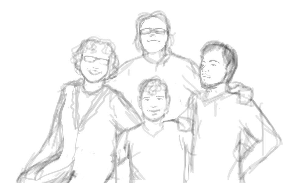 WIP of Matt Family Portrait by Beatriz Albir 1
