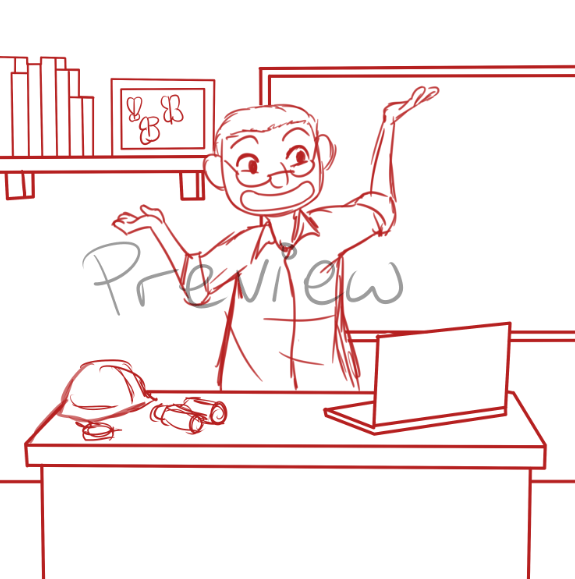 Draft of Steven in his Office by Zanny